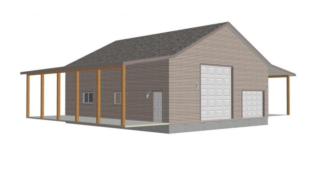 G382 Renderings DEER 80232 38 X 44 X 14 detached garage with – 50 X 30 Garage Plans