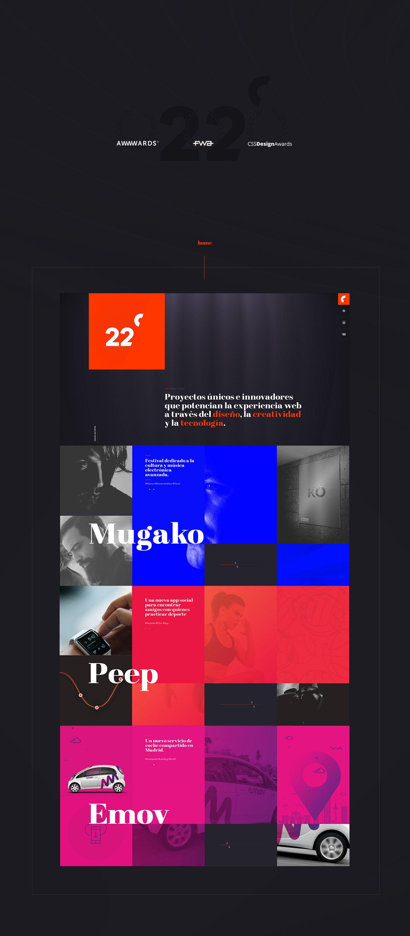 Portfolio Of The Study Web Design And Creativity Veintidos Grados