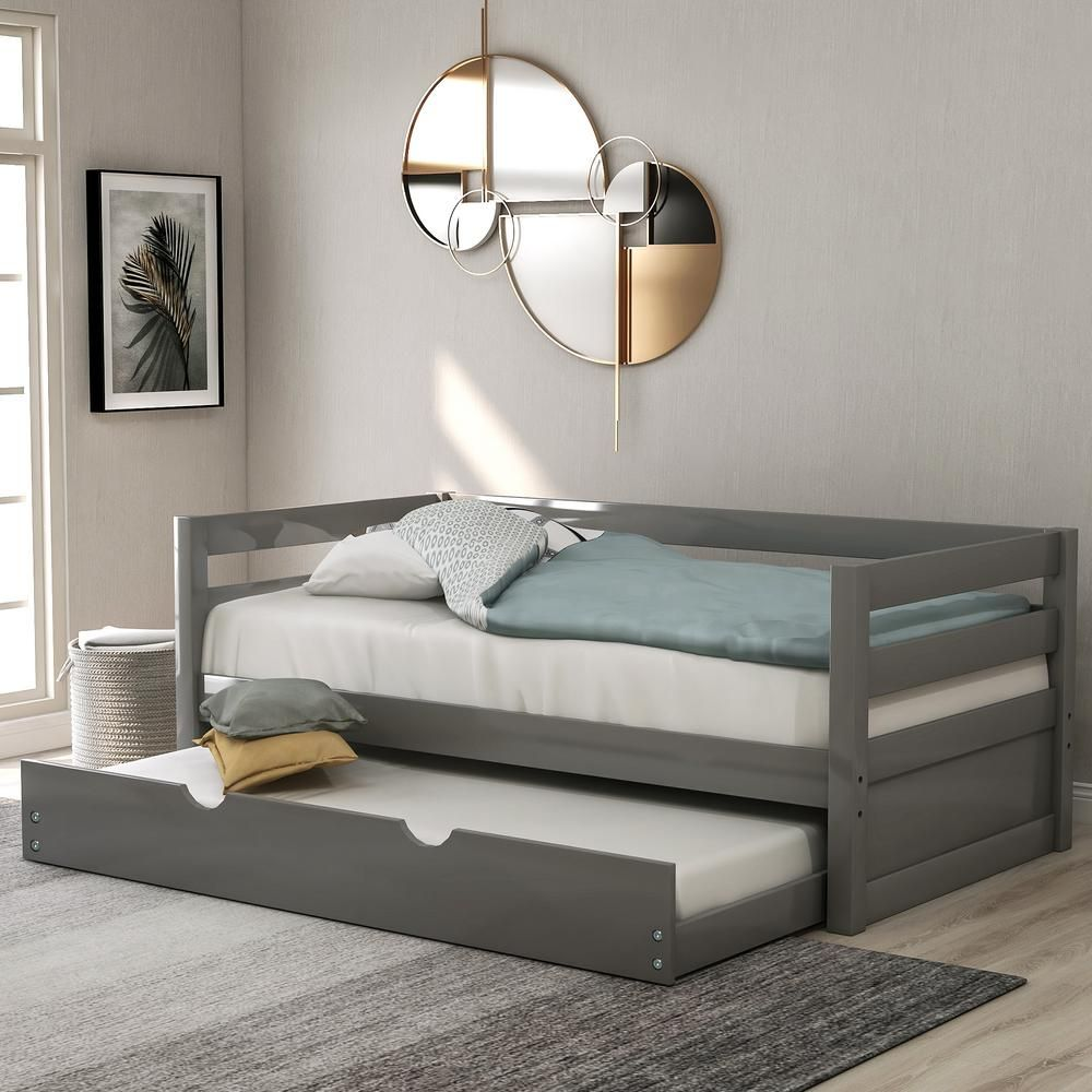 Harper & Bright Designs Gray Varley Twin Daybed with