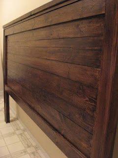 Reclaimed Wood-Look Headboard - King Size   Diy headboard ...