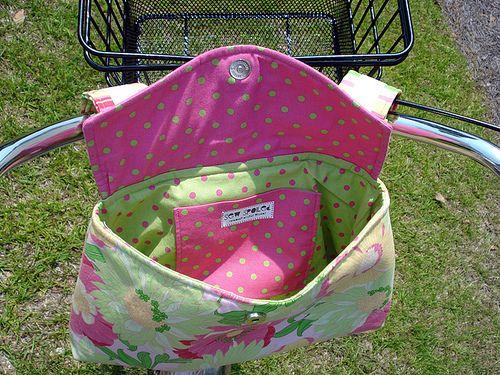 Sew Bike Bag Sew Spoiled Versatile Bag Pattern Bike Bag With Basket Open Bicycle Bag Pattern Handlebar Bag Pattern Bike Bag