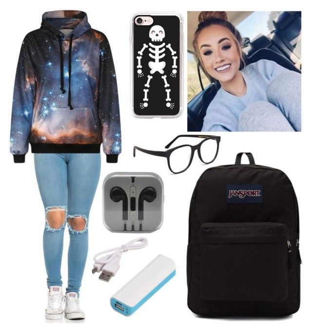 """Untitled #562"" by xxgraveyardbabyxx on Polyvore featuring Casetify, JanSport, Larke and Preferred Nation"