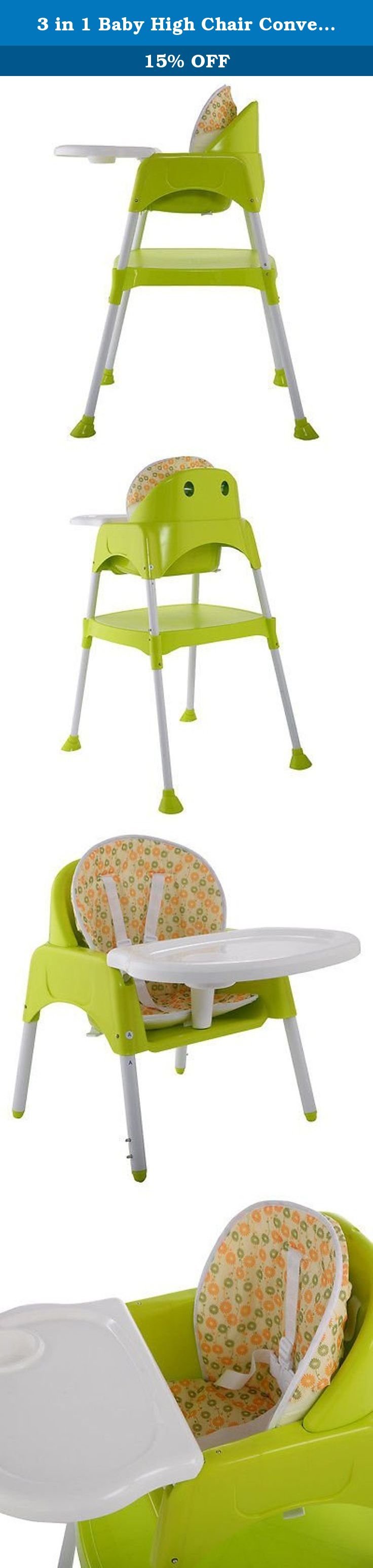 3 In 1 Baby High Chair Convertible Table Seat Booster Toddler Feeding  Highchair. This Convertible