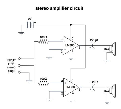 Stereo amplifier circuit diagram | Electrical Concepts in