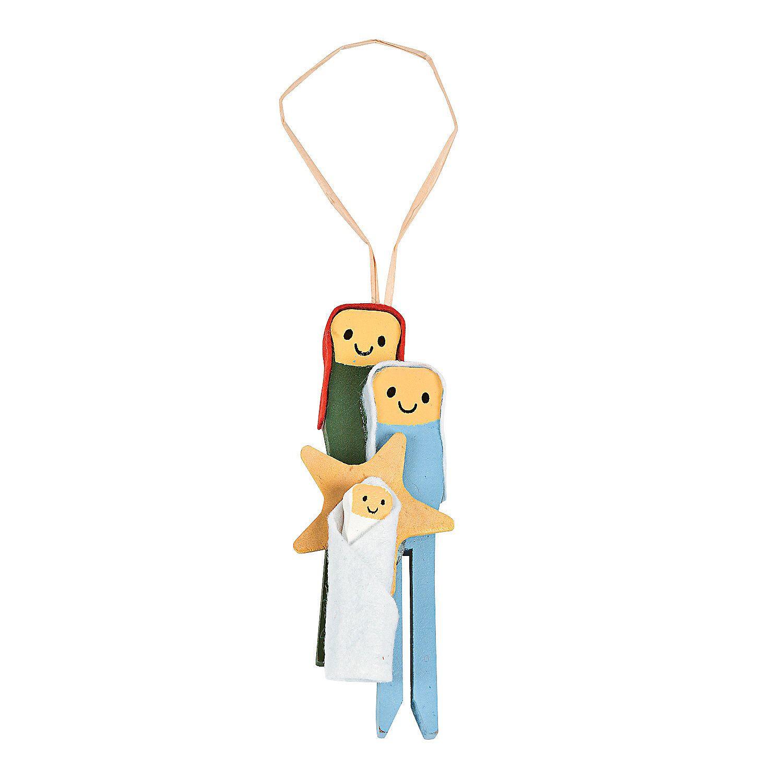 Christmas ornament craft kit - Nativity Clothespin Ornament Craft Kit Orientaltrading Com