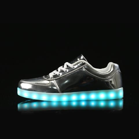 A3069 Silver Led Light Shoes For S Flashing 1