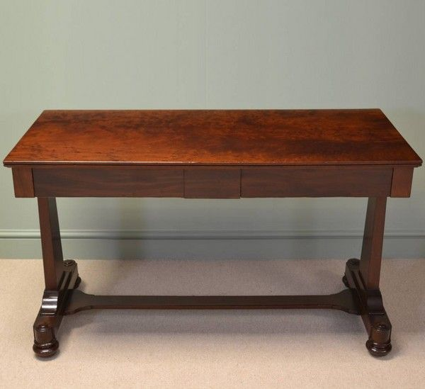 Spectacular Regency Antique Plum Pudding Mahogany Console Table