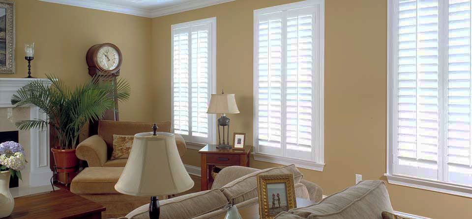 Home ideas with plantation shutters.