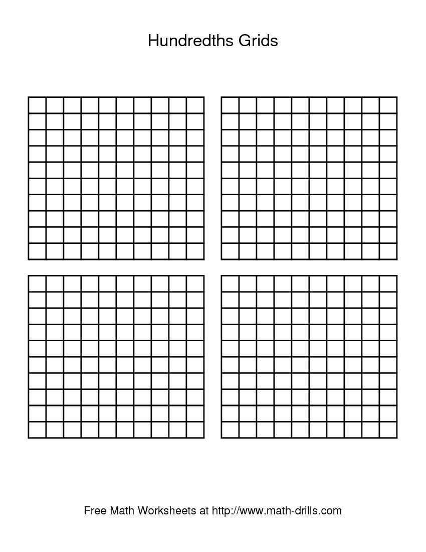 Hundredths grid... always nice to have | 15-16 | Pinterest | Maths ...