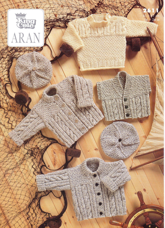 Aran Cable Waistcoat Jacket Cardigans Knitting Pattern PDF Cable ...