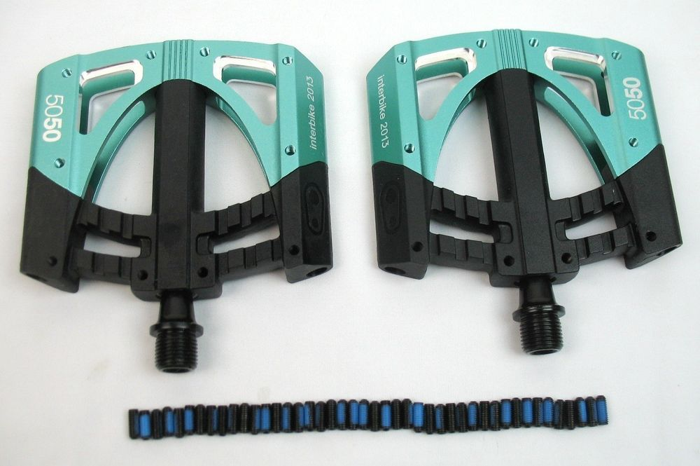 NEW 2014 Crank Brothers 50/50 5050 3 Pedals  Color/Flavor:Mint Green $100 Retail #crankbrothers