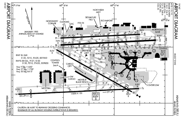 Airport Runway Layout Diagrams   We taxiied to the terminal of ...