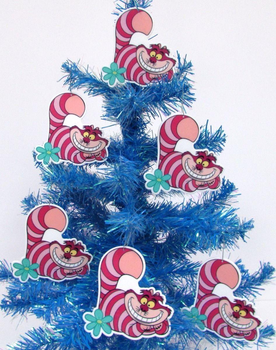 unique alice in wonderland cheshire cat 6 piece christmas ornament set 3 new https
