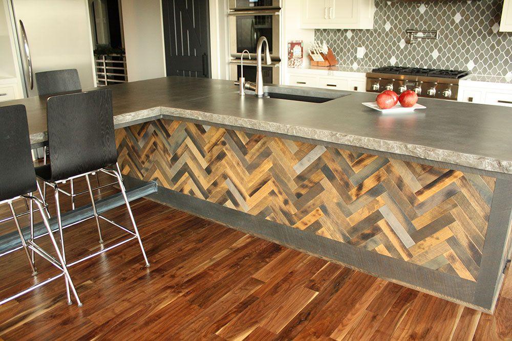 Резултат слика за hardwood herringbone countertop