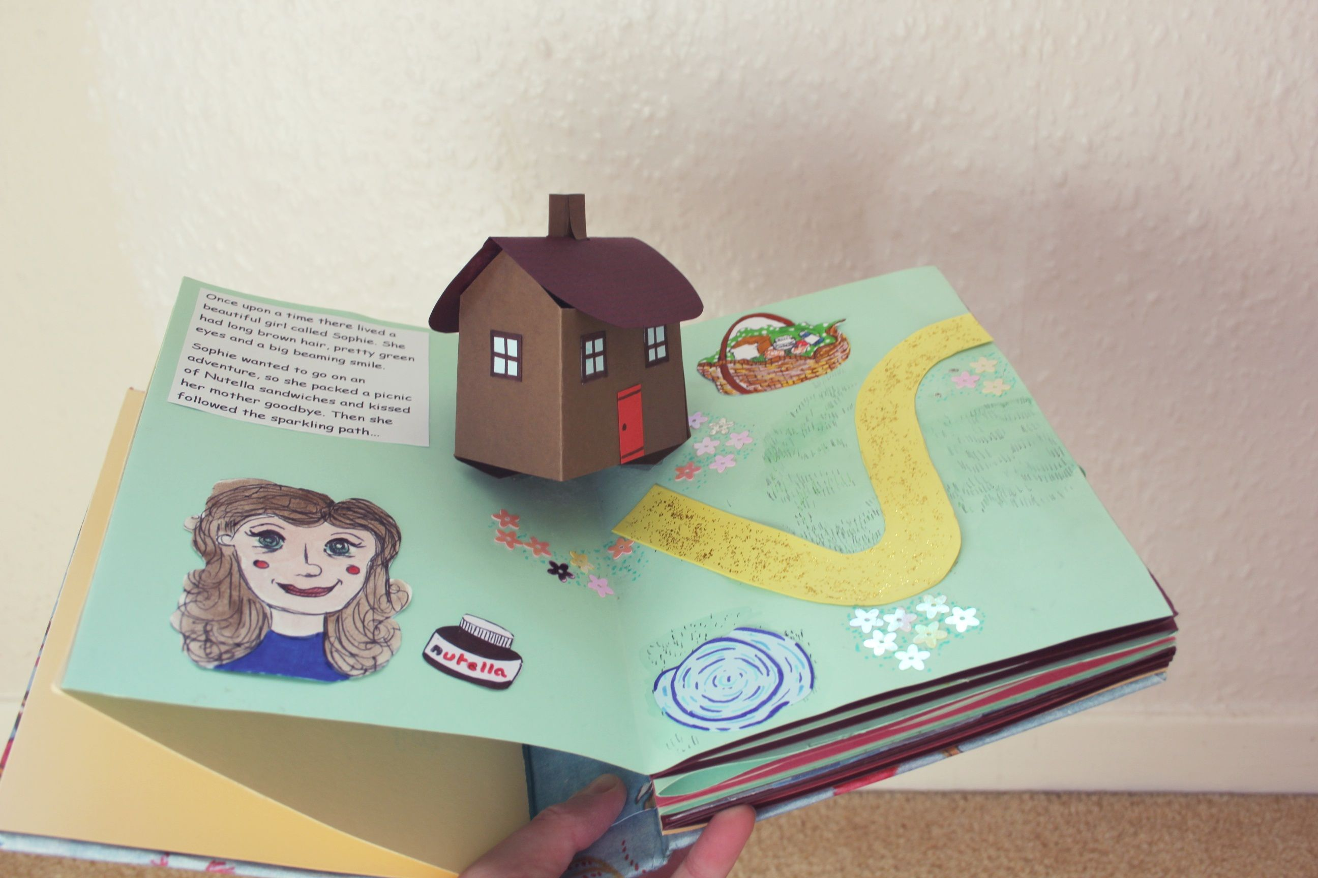 Homemade Pop Up Book Pop Up Book Diy Book Book Art