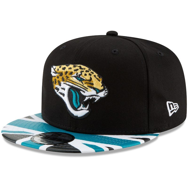 size 40 10d5c 0c9ce Jacksonville Jaguars New Era Union Jack 9FIFTY Adjustable Snapback Hat -  Black Teal