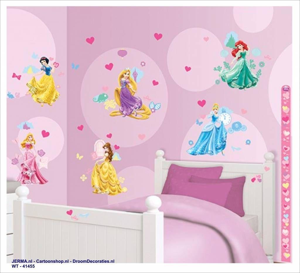 Inspirational Fotobehang of wandstickers meisjeskamer decoratie idee Princess decoratiestickers van Disney muurklevers grote goedkope stickers