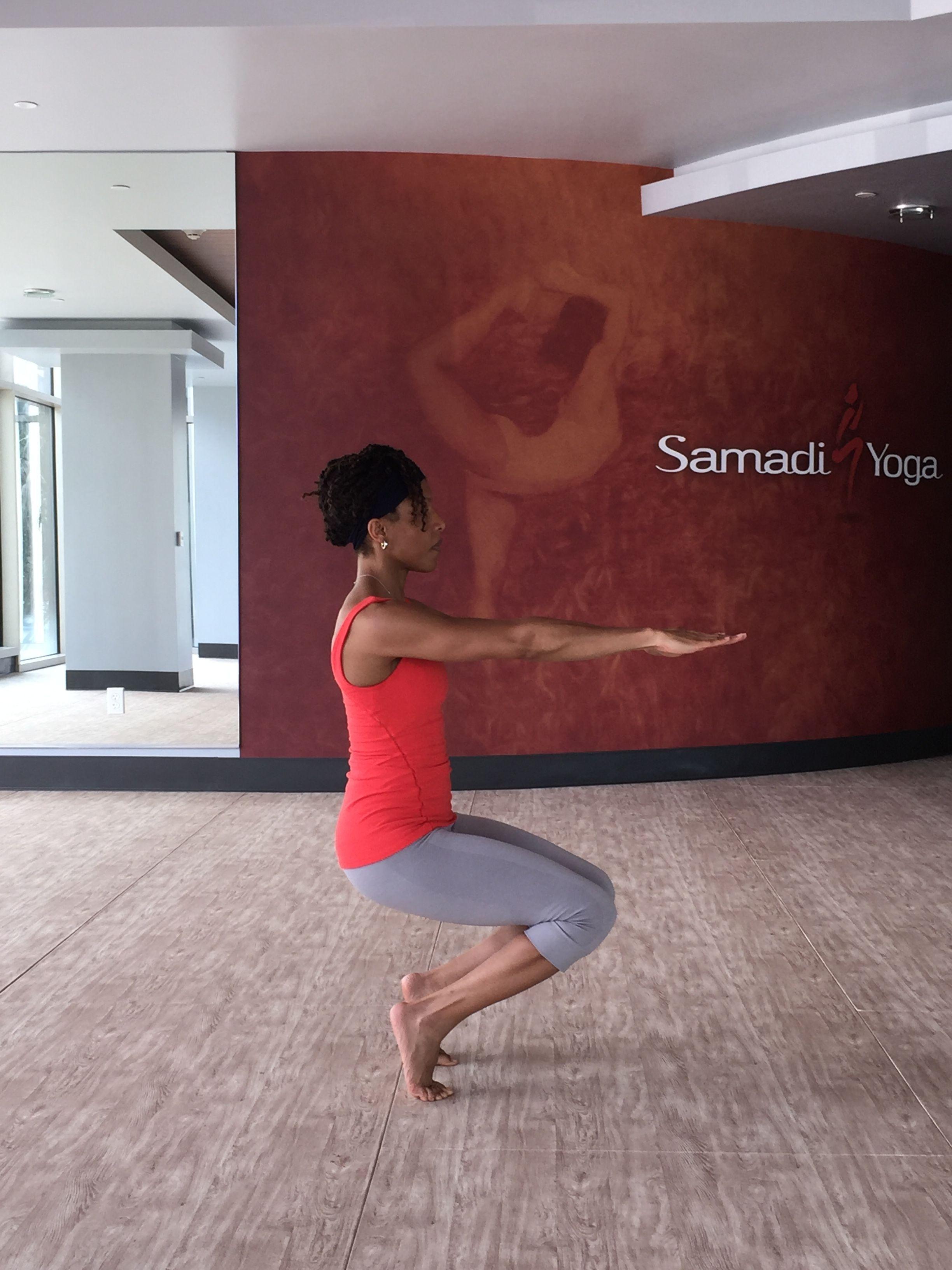 Chair pose chair pose yoga fitness yoga