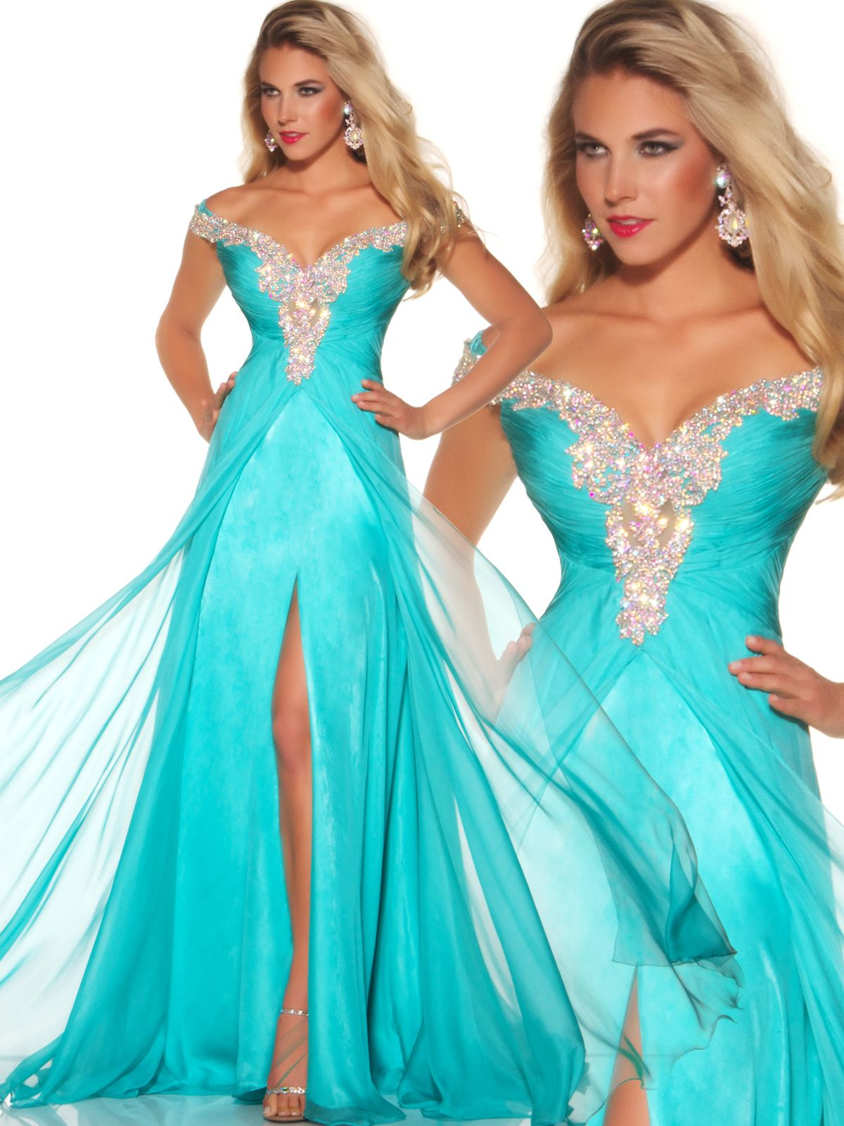 Halter top pageant dresses frame a longer shaped face and this Mac ...