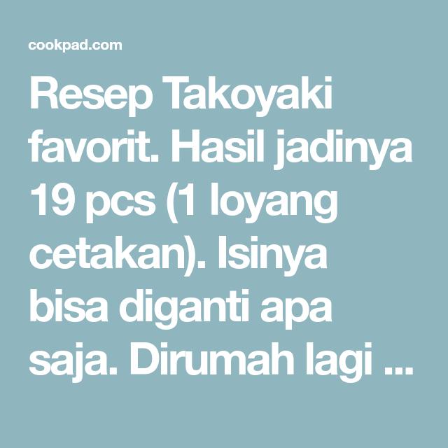 Takoyaki Resep Takoyaki Resep Bakso