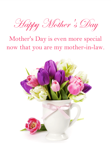 Beautiful Flowers Happy Mother S Day Card For Mother In Law Birthday Greeting Cards By Davia Happy Mother Day Quotes Birthday Wishes For Mother Wishes For Mother