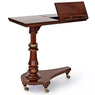 Mahogany Adjustable Reading Table Or Music Stand   Decorative Collective