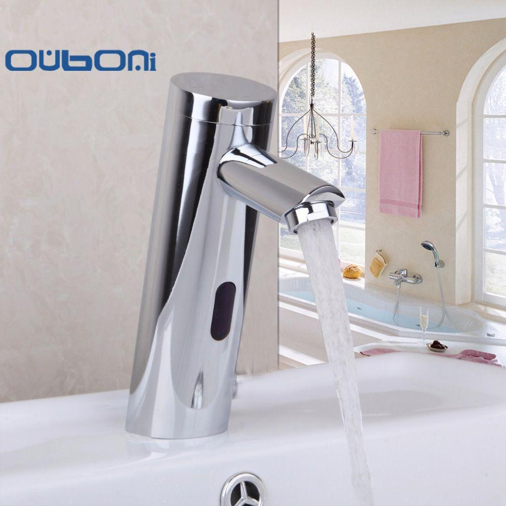 OUBONI Contemporary Motion Sensor Faucet Automatic Hand Touchless ...