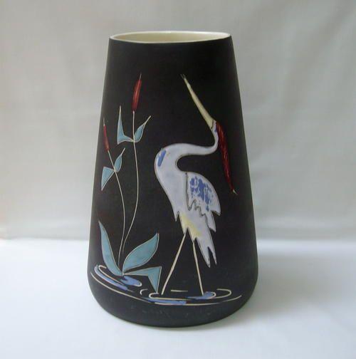 Vintage Crescent Potteries Heron 24cm Vase Bidorbuy Co Za African Pottery Pottery Vase