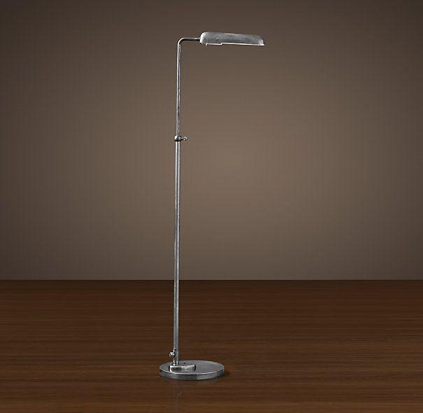 1930s Parisian Task Floor Lamp Task Floor Lamp Lamp Silver Floor Lamp