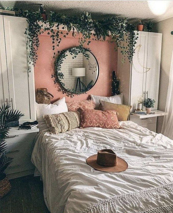 44 elegante Boho Schlafzimmer Dekor Ideen für kleine Wohnung 15 | Glebemines.com #apartmentdiy