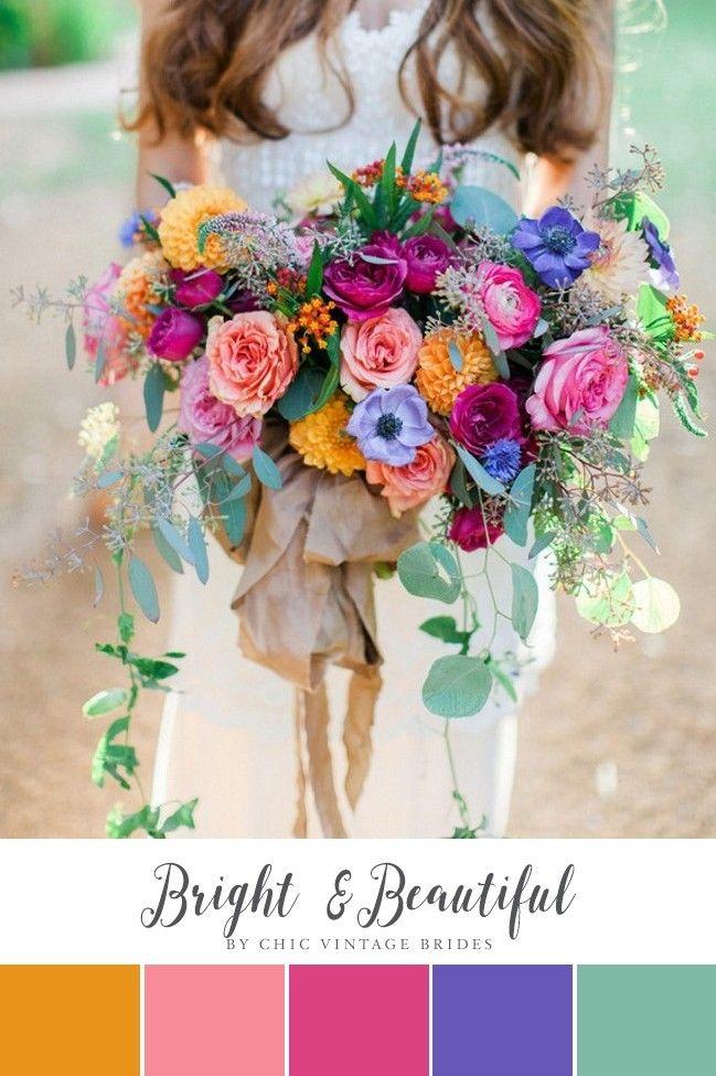 10 Beautiful Summer Wedding Colour Palettes Boho Wedding Bouquet