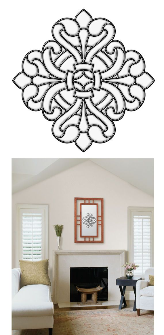 Medici Medallion Clear Stained Glass Wall Sticker Wall Sticker