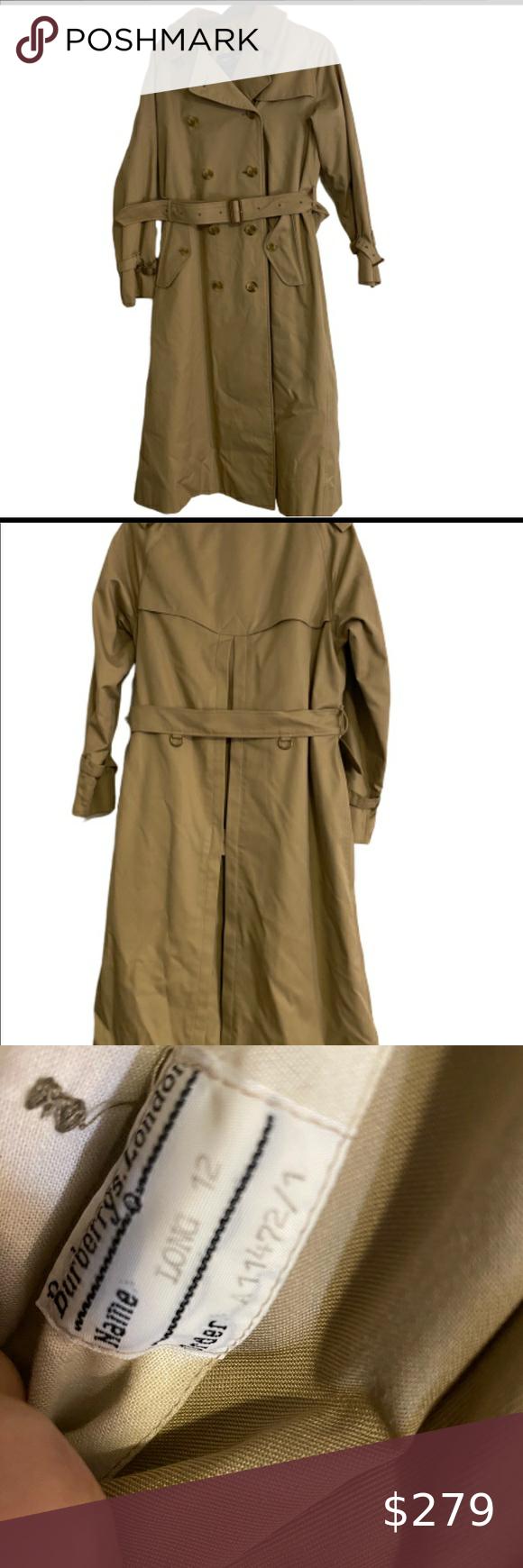 Burberry S Vintage Trench Coat Nova Check 12l Classic Coats Trench Coat Coat