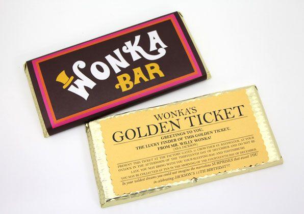 wonka bar golden ticketprintable
