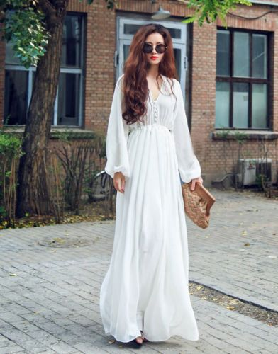 Hippie-Gypsy-Bohemian-Bell-Sleeve-Women-Long-Lace-Dress-Boho-Party-Wedding-dress