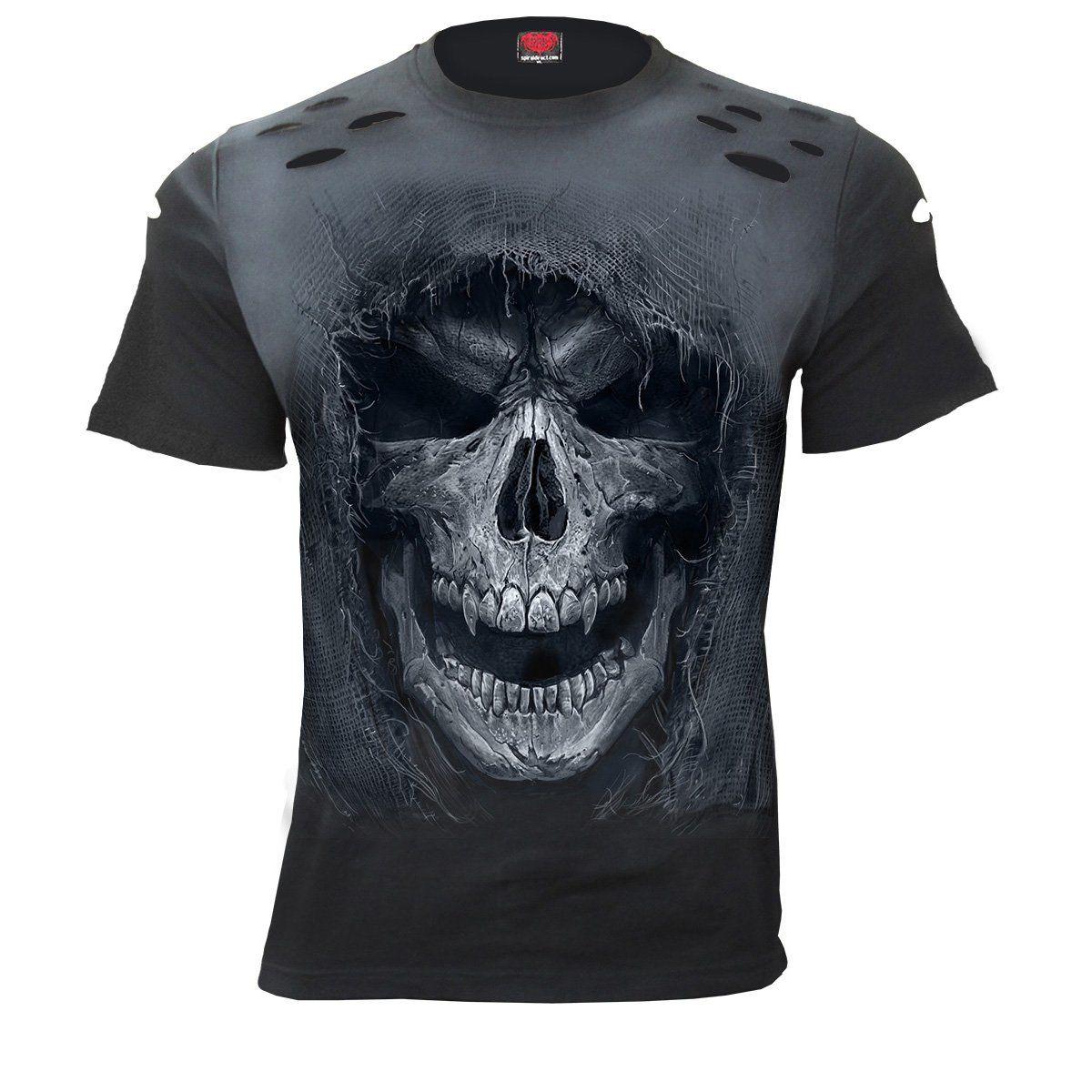 Spiral Direct REAPER/'S DOOR LONG SLEEVE T-Shirt//Biker//Goth//Skull//Angel//Reaper