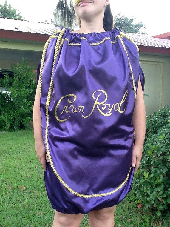 foto de Crown Royal Bag costume Handmade Purple or Apple Green Unique Adult Unisex Mask and Crown