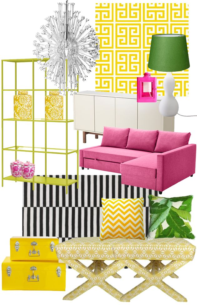 I keep seeing this Ikea couch paired with yellows and greens, hmmm. Maybe for spring/summer I could change it up a bit with pillows.
