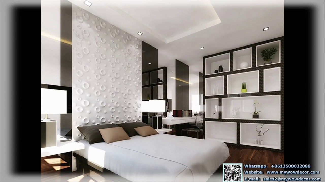 Water-Proof Designs Environmentally Friendly 3D PVC Wall Panel   3D