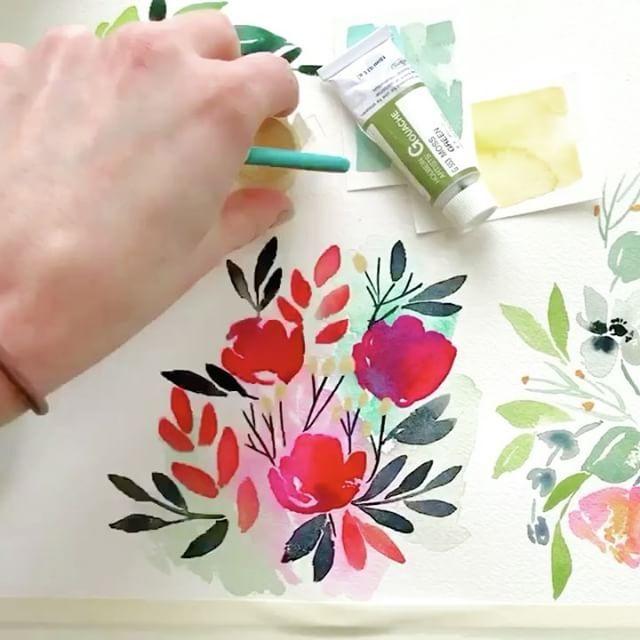 Botanical Watercolor Wreath Tutorial Flower Drawing Tutorials
