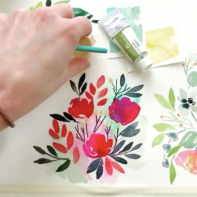 Watercolor Diy Video Tutorials Floral Modern Botanical Calligraphy