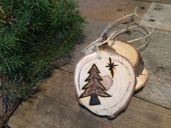 Christmas ornaments, Multi Variety Pack, Woodburned Ornaments
