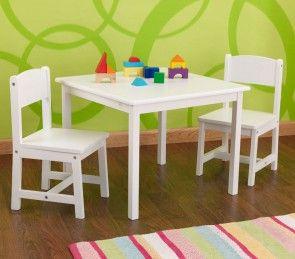 Weisse Kidkraft Kindertisch Stuhl Kombination Aspen Aus Holz