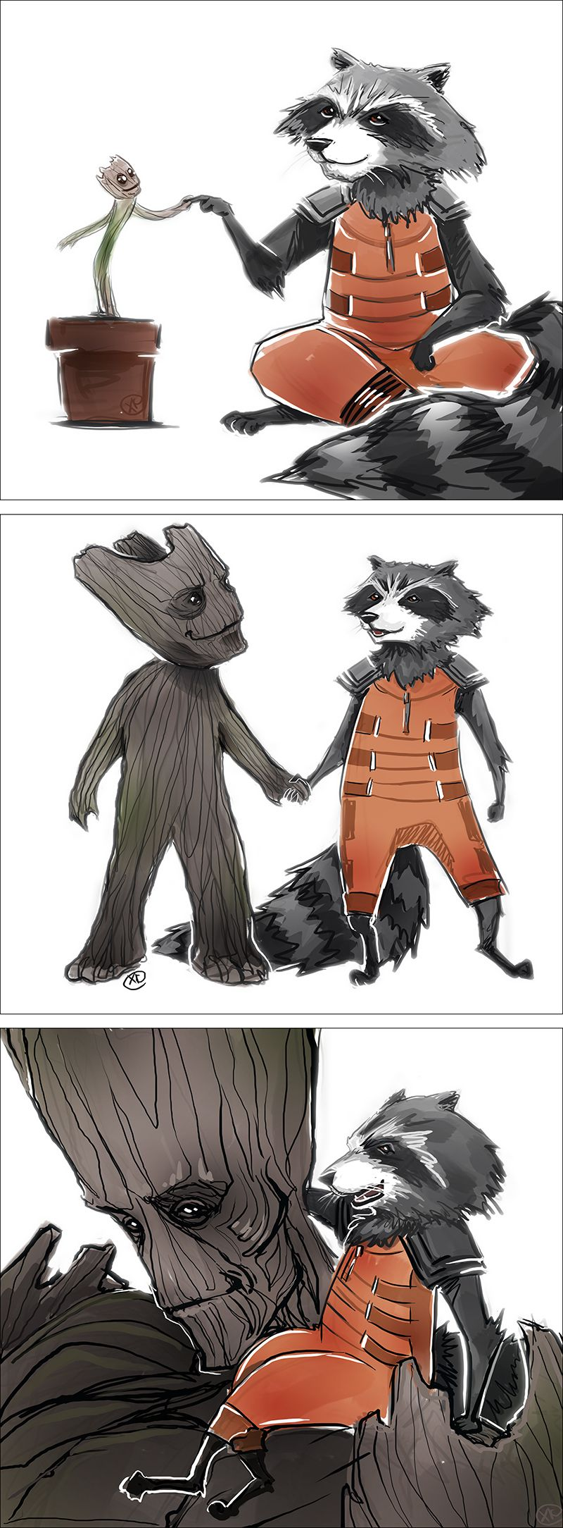 Star Lord And Rocket Raccoon By Timothygreenii On Deviantart: Grow Up By MaXKennedy.deviantart