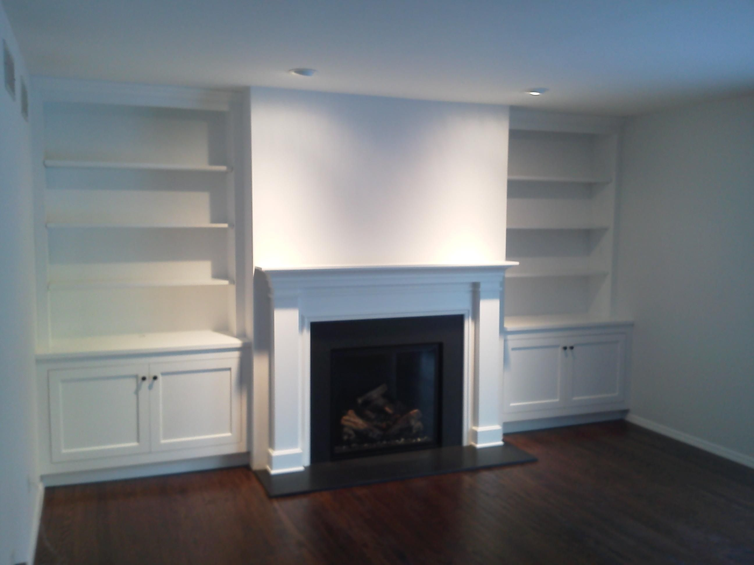 Fireplace cabinet bookcase mantel fireplace mantels pinterest