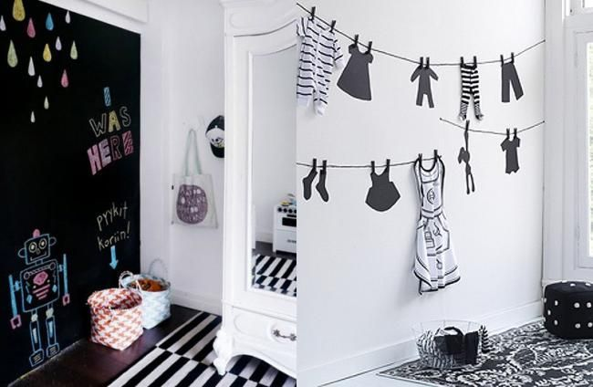 Decoracion infantil en blanco y negro i want pinterest - Decoracion blanco y negro ...