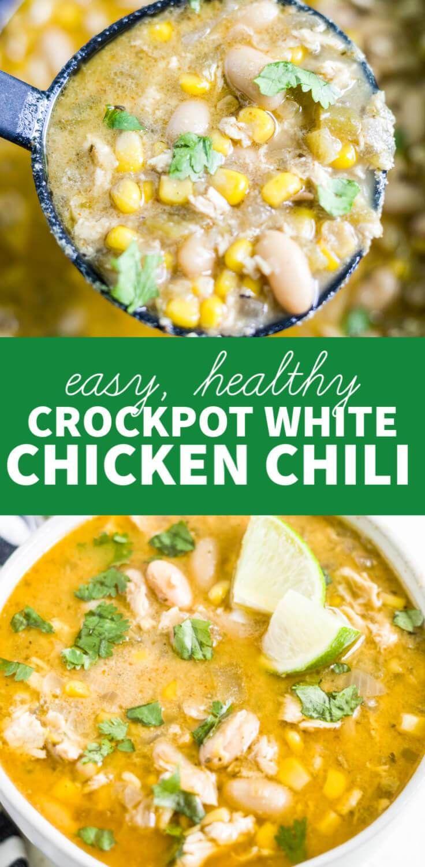 Crockpot Healthy White Chicken Chili | What Molly Made #whitechickenchili