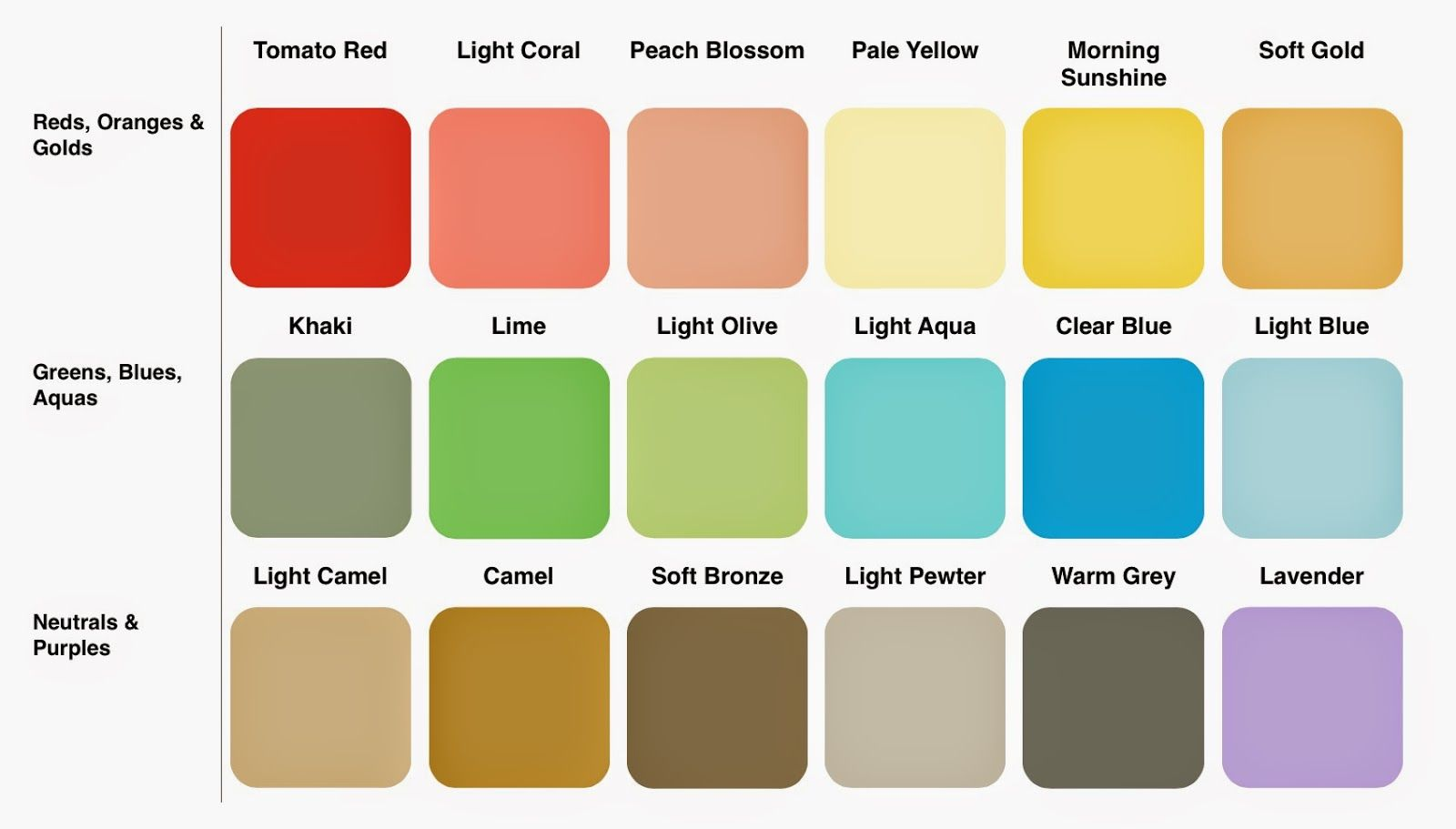 http://wordsonhome.blogspot.fi/p/spring-colour-palettes.html | soft ...