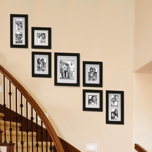 Creative Staircase Wall Decorating Ideas Art Frames Staircase