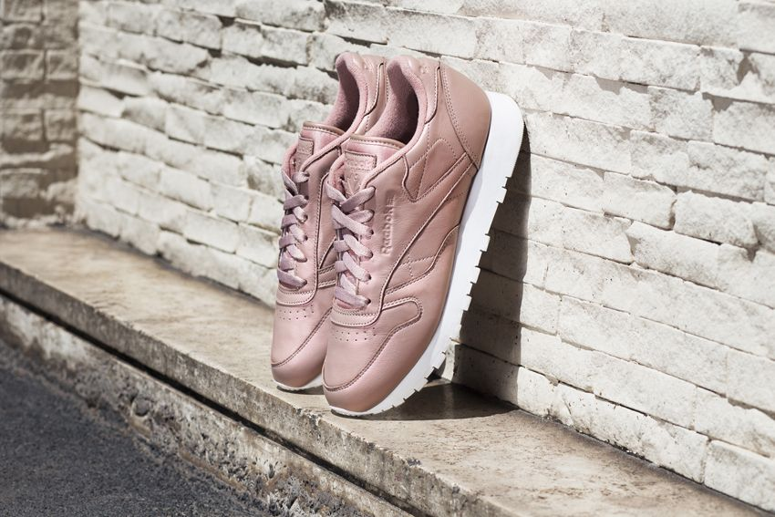 Rose Femme Pack Reebok Leather Pearl Gold Sneakers Classic yv6gYfIb7